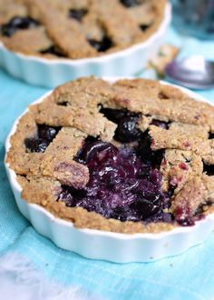 This blueberry tart is the healthiest sweet pie will never eat. The crispy almond & walnut crust is 100% gluten free, low carb and simply the best pie crust ever!