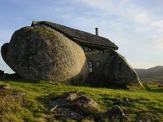 The Ture Stone House, in the montains of Fafe, Portugal. Yeah. It's real.