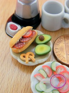 Artist Shay Aaron constructs incredible miniaturized food sculptures at 1:12 scale that look almost completely edible