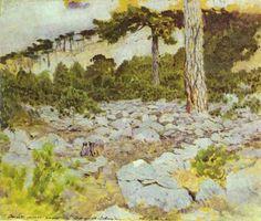 Crimea. In the Mountains., 1886 Isaac Levitan