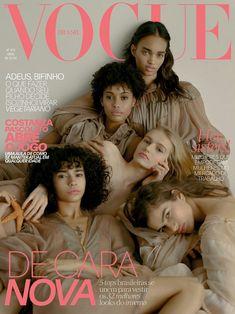 Ellen Rosa, Fernanda Oliveira, Samile Bermannelli, Mia Brammer and Linda Helena × Vogue Brasil April 2018