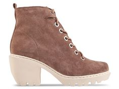 Opening Ceremony Grunge Lace Up Bootie in Taupe at Solestruck.com