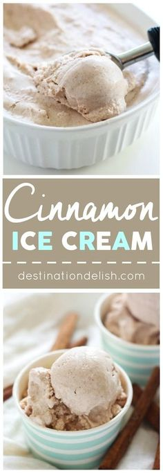 Cinnamon Ice Cream - a cozy frosted treat that's vegan, paleo, and gluten free and sure to spice up any autumn dessert!