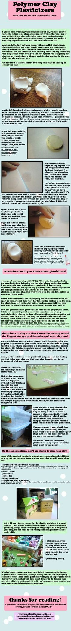 Polymer Clay Plasticizer Quick Guide by *GrandmaThunderpants on deviantART