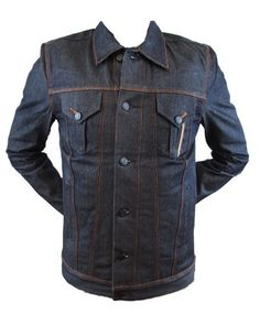Ben Sherman Moon Selvage Men's Denim Jacket  XX-Large From #Ben Sherman Price: $79.00 Availability: Usually ships in 1-2 business daysShips From #and sold by newbury-comics