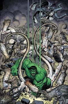 The Hulk SMASHES by Art Adams.
