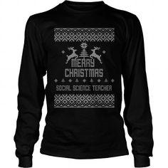 merry christmas social science teacher #teacher #science #ideas #image #photo #shirt #tshirt #sweatshirt #hoodie #tee #gift #perfectgift #TeacherDay