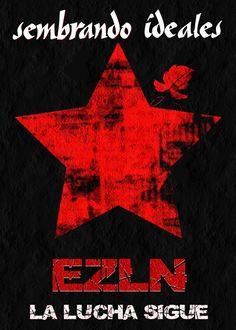 """descarga el Cartel Libre """"sembrando ideales"""" obra de Zapatista"""