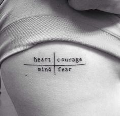heart over mind | courage over fear