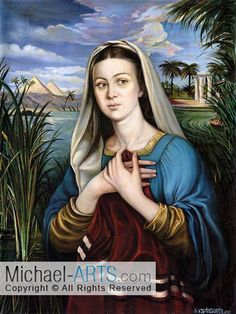 Miriam, Moses Sister - Biblical Art Print on Canvas by Michael Khundiashvili