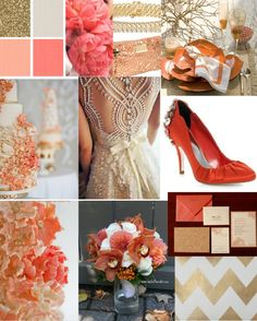 Niagara Wedding Planner   Fall Colour Scheme: Coral & Gold! » Niagara Wedding Planner and Designer