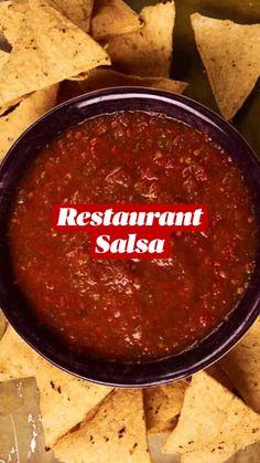 Mexican Style Salsa Recipe, Simple Salsa Recipe, Cooked Salsa Recipe, Garden Fresh Salsa Recipe, Red Salsa Recipe, Homemade Mexican Salsa, Roasted Salsa Recipe, Salsa Canning Recipes, Easy Homemade Salsa