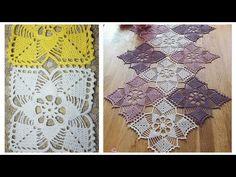 مفرش الألوان الجميلة من وحدة متعددة الاستخدامات الجزء الثاني 2 Crochet doily easy - YouTube Free Crochet Square, Free Crochet Bag, Crochet Doily Diagram, Crochet Motifs, Crochet Flower Patterns, Doily Patterns, Crochet Chart, Crochet Designs, Crochet Stitches