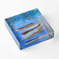 acrylic block, home,office,accessories,decor,items,cool,beautiful,fancy,unique,trendy,artistic,awesome,fahionable,unusual,theme,gifts,presents,for sale,design,ideas,,color,blue,tsea, boat,nautical,marine,redbubble
