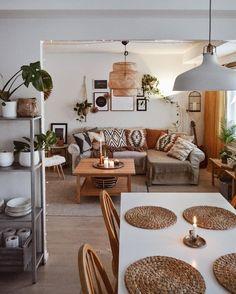 Boho Living Room, Home And Living, Living Room Decor, Living Spaces, Bedroom Decor, Living Room Colors, Small Living, Budget Home Decorating, Style Deco