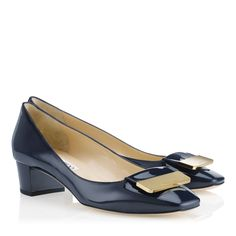 For work....Navy Patent Square Toe Pumps   Iris   24/7 Collection   JIMMY CHOO Shoes