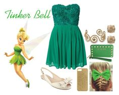 """Tinker Bell"" by tornadoegi ❤ liked on Polyvore featuring Fathead, Elise Ryan, Nine West, J.Crew, MICHAEL Michael Kors and Lucky Brand"