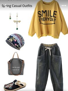 Casual Jeans, Casual Tops, Casual Outfits, Casual Clothes, Mode Birkenstock, Joggers Outfit, Two Piece Pants Set, Plus Size Pants, Cycling Outfit