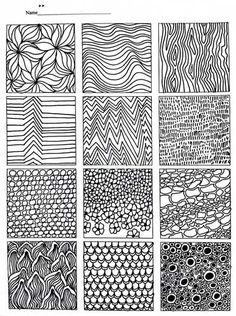 AnatoRef — Line and Pattern Drawing Practice Top Image. Doodle Drawing, Zentangle Drawings, Zentangles, Drawing Drawing, Ink Drawings, Drawing Practice, Drawing Lessons, Doodle Patterns, Zentangle Patterns