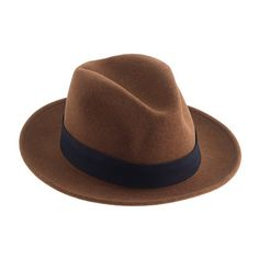 """This Brooklyn-based company, run by two brothers, is known for its timeless classics and workwear-inspired goods—including this handsome fedora. It's made right here in the USA with all the details you'd expect in a traditional fedora, including a snap brim and an indigo-dyed twill band. It's also stain- and water-repellent, which comes in handy for those """"Singin' in the Rain"""" impressions that come out of nowhere. And, last but not least, it can only be found here at J.Crew. ..."""