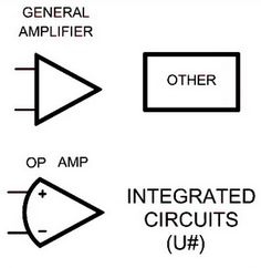 Electrical wiring schematic diagram symbols integrated circuits electrical schematic symbols names and identifications pinterest rh pinterest co uk electrical symbols chart aircraft wiring diagram symbols asfbconference2016 Images