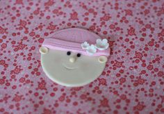 Fondant Baby Face Toppers for Baby Shower by parkersflourpatch