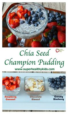 Chia Seed Champion Pudding Recipe {Healthy Dessert for Kids}. Have your kids tried it yet? What do they think? http://www.superhealthykids.com/chia-seed-pudding-for-kids/