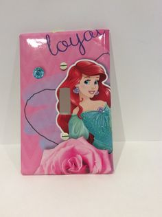 Mermaid Decor,Ariel Light Switch Cover, Little Mermaid, The Little Mermaid, Disney Princess - pinned by pin4etsy.com