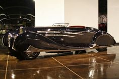 A 1939 Bugatti given to the Shah of Iran as a wedding present is one of the treasures in the Petersen Automotive Museum's vault.