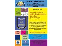 Phoenix Hindu Primary School is a normal school from grade RRR(3yrs)Grade RR(4yrs) Grade R(5years) and so on. We teach as per department of education but we also teach hindi/tamil,yoga,dance and music.Small classes for teachers to give personal attention to each learner. Please contact me for further details 0738344247 This is not a job ad but a school ad.Thank u