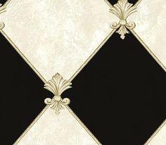 Interior Place - Ebony Fleur de Lis Harlequin Wallpaper, $22.80 (http://www.interiorplace.com/ebony-fleur-de-lis-harlequin-wallpaper/)