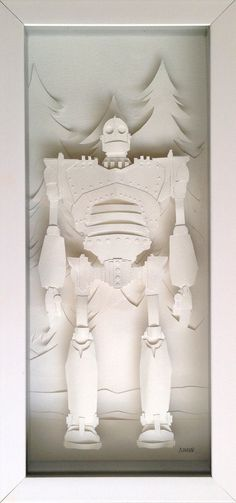 Iron Giant Papercraft - Feature at Atomic Moo http://www.atomicmoo.com/2014/09/06/the-iron-giant-papercraft/