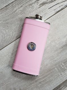 Hey, I found this really awesome Etsy listing at https://www.etsy.com/listing/501290487/pink-leather-bullet-flask-12ga