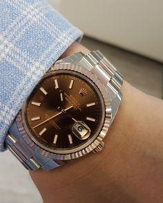 Rolex Datejust 41 Steel & Everose Gold Chocolate Dial 126331