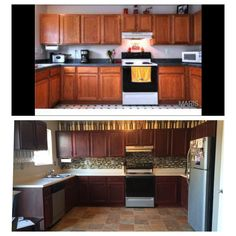 Rustoleum Cabinet Transformation Before And After: Our Cabinets Were Honey  Oak Before, And We