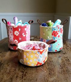 Mini Patchwork Buckets (& Giveaway!)