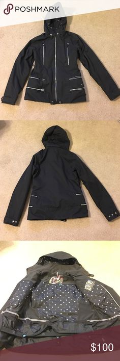 Burton dry ride jacket Beautiful burton jacket! Gently used and well cared for. No noticeable wear, all zippers and snaps intact and functioning. Size medium, but will fit a small too. Color is black, but it's almost more of a dark charcoal color. Burton Jackets & Coats