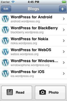 Mit diesem App könnte Ihr auf dem iPhone einen Wordpress Blog verwalten und neue Artikel veröffentlichen.