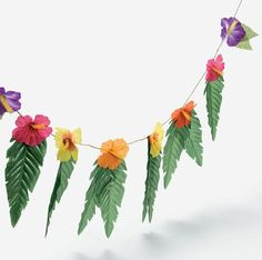 Amazon.com: 4 Strands Hibiscus Flowers & Leaves Garland Luau Party Decor Hawaiian Wedding Decoration: Toys & Games