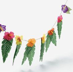 Amazon.com: 4 Strands Hibiscus Flowers & Leaves Garland Luau Party Decor Hawaiian Wedding Decoration: Toys & Games