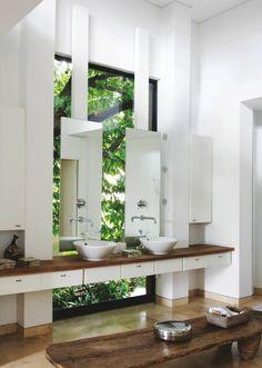 Fantastisch Stilvolles Minimalistisches Badezimmer Holz Waschtisch
