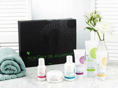 Our Aloe Fleur De Jouvence Collection is good for younger and for those with Sensitive Skin. This includes: Aloe Cleanser Rehydrating Toner Mask Powder Aloe Activator Recovering Night Creme Firming Day Lotion. Shop online www.gerborah-forever.myforever.biz/store