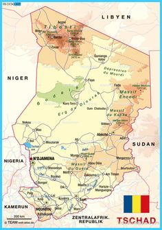 awesome Map of Chad