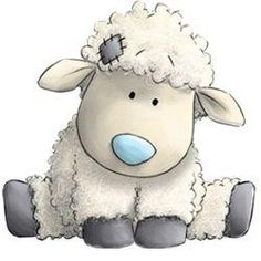 Cottonsocks the Sheep - Tatty Teddy Friends Tatty Teddy, Teddy Bear, Blue Nose Friends, Illustration Mignonne, Cute Illustration, Sheep Drawing, Lamb Drawing, Drawing Drawing, Baby Animals