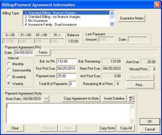 Setting up Payment Agreements with Patients - Dentrix eNewsletter Tip 4/20/2010