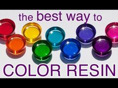 Ways to Color Resin by Little Windows - Little Windows Brilliant Resin and Supplies