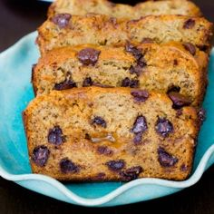 Caramel Banana Bread.  You'll never find a more decadent, soft, flavorful banana bread. Rivers of caramel and chocolate chips swirling inside!