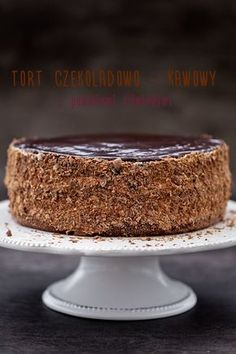 Chocolate - coffee cake with plum jam My pastries Polish Desserts, Polish Recipes, Cookie Desserts, Dessert Recipes, Lemon Cheesecake Recipes, Tasty Chocolate Cake, Chocolate Coffee, Torte Cake, Dessert Bread