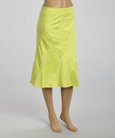 Look what I found on #zulily! Rafael Lime Diagonal-Seam A-Line Skirt by Rafael #zulilyfinds