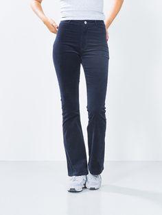 Donna cord pants | 7171883 | Blue | BikBok | Worldwide